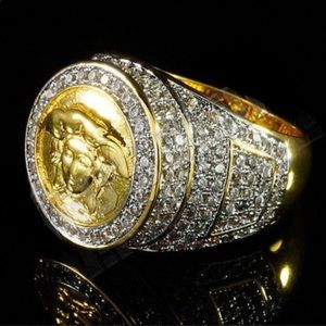 Other - ICEY Medusa Head Men's Gold Ring Designer Jewelry